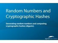 Generating random numbers and computing cryptographic hashes ...