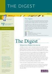 The Digest - Teachers Registration Board of Tasmania