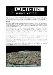 Das Origin Projekt, Beiträge zum CultH2 - cpe - Universität ...