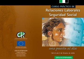 relaciones laborales seguridad social: una puesta ... - CPR de Mérida