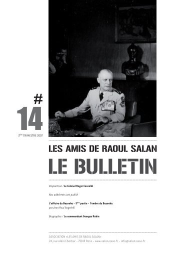 bulletin 14 / 3eme trimestre 2007 - Association des amis de Raoul ...