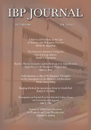 Journal Volume 34 no. 2 (2009) - Integrated Bar of the Philippines