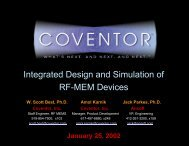 Integrated Design and Simulation of RF-MEM Devices