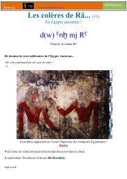 Les colères de Râ... _11_ en Égypte ancienne !
