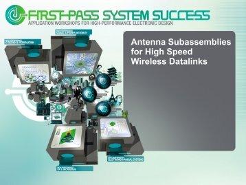 Antenna Subassemblies for High Speed Wireless Datalinks