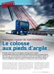 Le colosse aux pieds d'argile - Transport Logistique