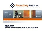 BeCruiter Präsentation deutsch_ohne Kunden - Bertelsmann
