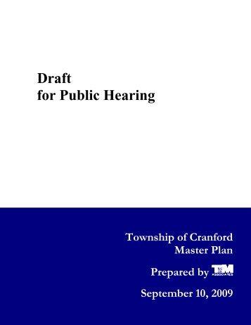 Draft for Public Hearing - Cranford.com