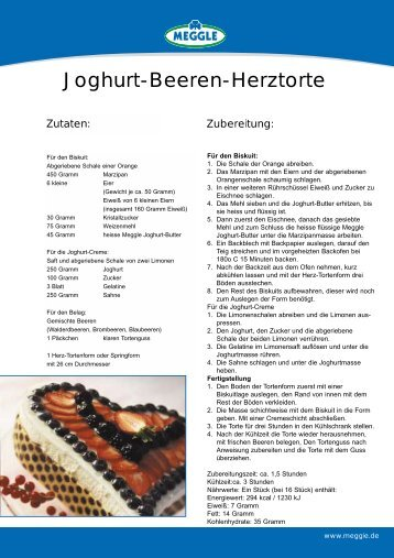 Joghurt-Beeren-Herztorte - Meggle