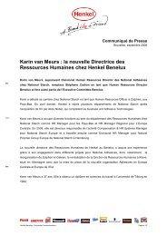 Communiqué de Presse / PDF - Henkel