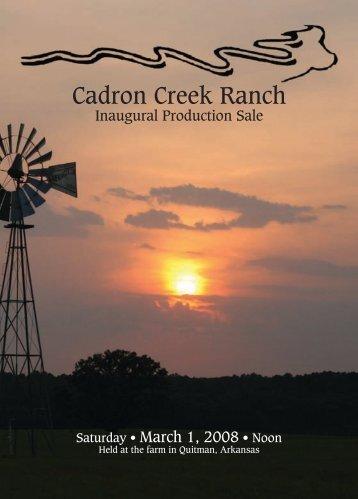 Cadron Creek Ranch - Angus Journal