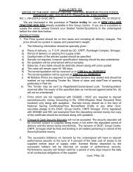 Tender for Purchase of Tractor trolley GC CRPF, SNR - Central ...