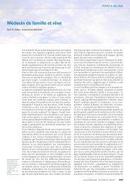 Médecin de famille et rêve - Swiss Medical Forum