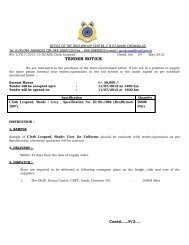 Tender for purchase of Cloth Leopard, Shade : Grey, GC CRPF, Avadi