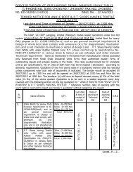 Tender for purchase of Ankle Boots & P.T. Shoes GC CRPF, Imphal