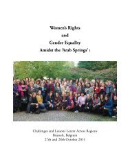Women's Rights and Gender Equality Amidst the 'Arab Springs' :