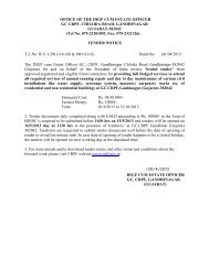 OFFICE OF THE DIGP CUM ESTATE OFFICER GC CRPF ...