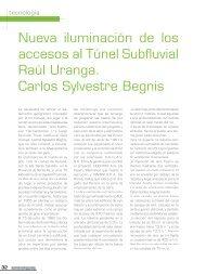Nueva iluminación de los accesos al Túnel Subfluvial Raúl ... - Strand