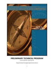 preliminary technical program - The American Ceramic Society