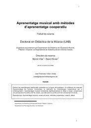 Aprenentatge musical amb mètodes d'aprenentatge ... - Recercat