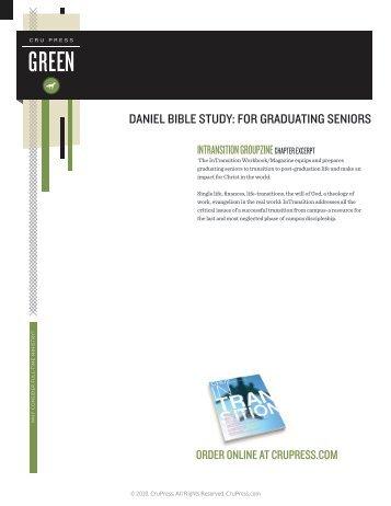 daniel bible study: for graduating seniors - Cru Press Green
