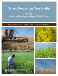 Oilseed Production Case Studies - Washington State University