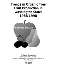 Trends in Organic Tree Fruit Production in Washington State: 1988 ...