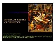 MEDECINE LEGALE ET URGENCES - SMUR BMPM
