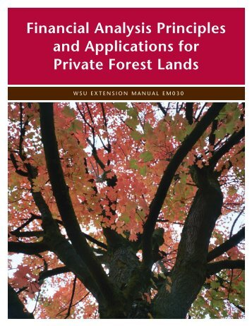 Financial Analysis Principles and Applications for Private Forest Lands