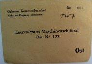 Heeres-Stabs-Maschinenschlüssel Ost Nr. 123