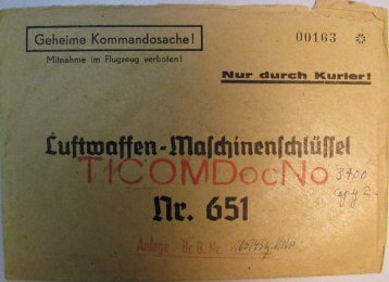 Luftwaffen-Maschinenschlüssel Nr. 651