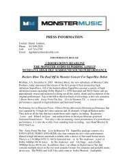 PRESS INFORMATION - Monster Cable