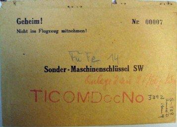 Sonder-Maschinenschlüssel SW