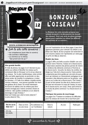 BONJOUR L'OISEAU ! - Averbode