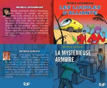 LA MYSTÉRIEUSE ARMOIRE - Cforp.ca