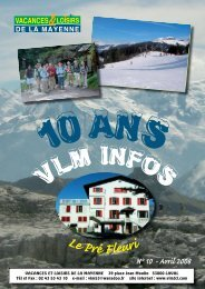 VLM Infos 2008 - Vacances et Loisirs de la Mayenne