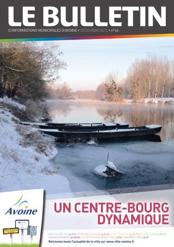 Bulletin Municipal Hiver 2012 - Mairie d'Avoine