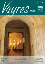 Octobre 2009 - Commune de Vayres - Site officiel de la Mairie de ...