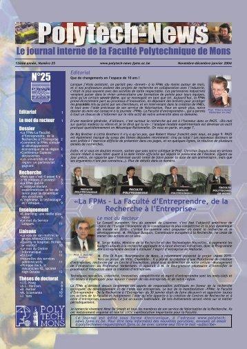 Polytech-News - Université de Mons