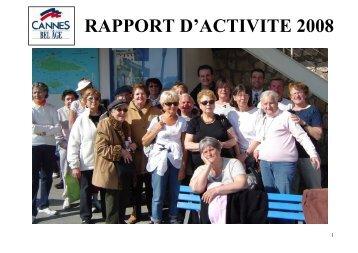 RAPPORT D'ACTIVITE 2008 - Cannes Bel Age
