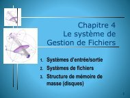 Chapitre 4 Le système de Gestion de Fichiers