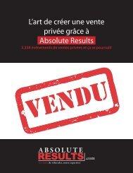 L'art de créer une vente privée grâce à Absolute Results