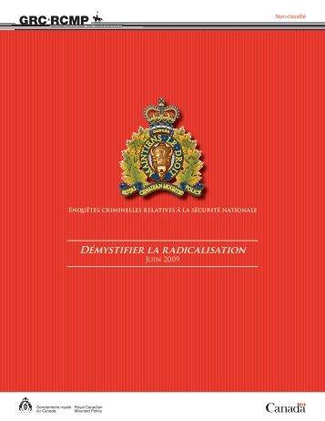 Démystifier la radicalisation - Gendarmerie royale du Canada