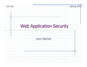 Web Application Security - Stanford Crypto Group