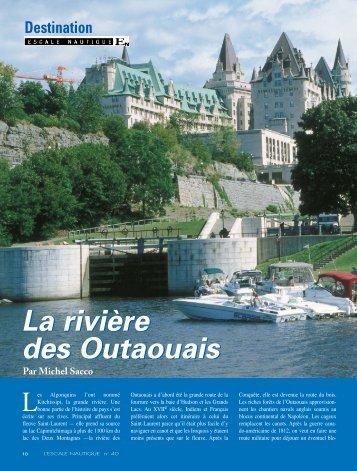 La rivière des Outaouais La rivière des Outaouais - L'Escale Nautique
