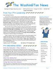 The WashinGTon News - Washington GT Magnet Elementary School