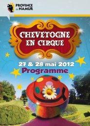 Programme de la Fête du Cirque - Domaine Provincial de Chevetogne
