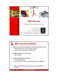 Web Security Web security problems - CrySyS Lab