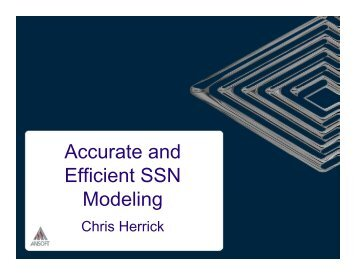 Accurate and Accurate and Efficient SSN Modeling