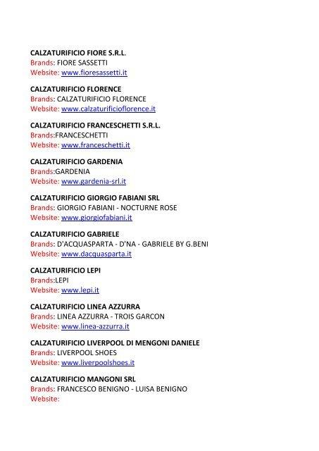 CAF SRL Brands: GIOVANNI